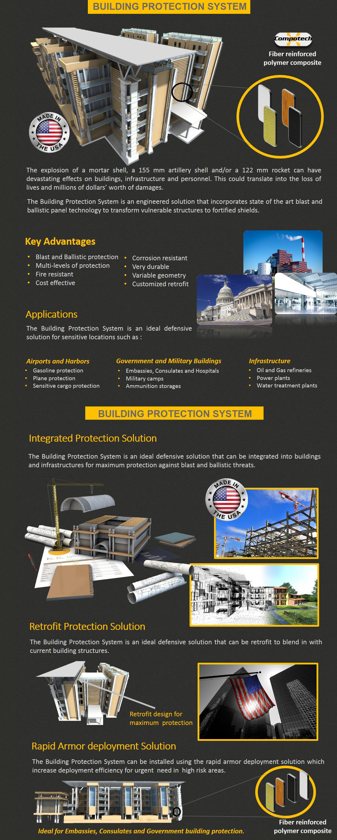 Building protection website page